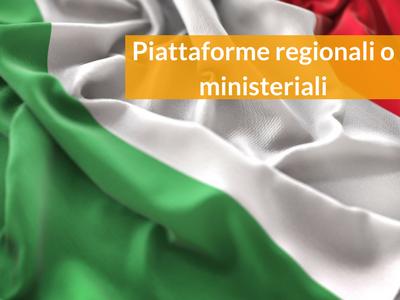 iscrizione piattaforme regionali ministeriali